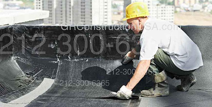 Flat Roof New Beams Installation
